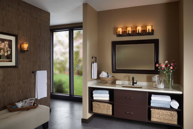 Feiss vs18904 rbz aris roman bronze 4 light vanity mediterranean bathroom chicago by Bathroom light fixtures chicago
