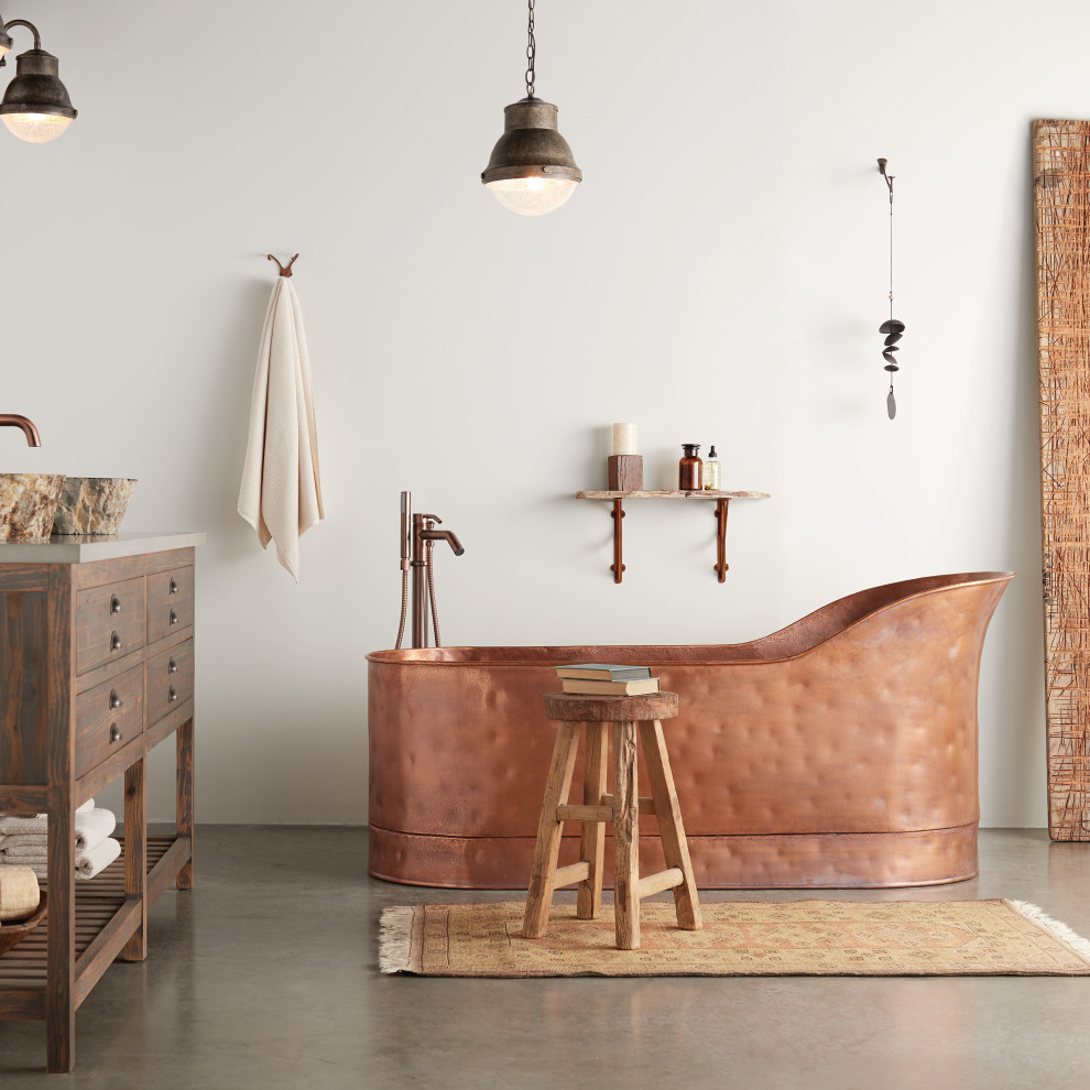 Inspiration for an industrial bathroom remodel in Other