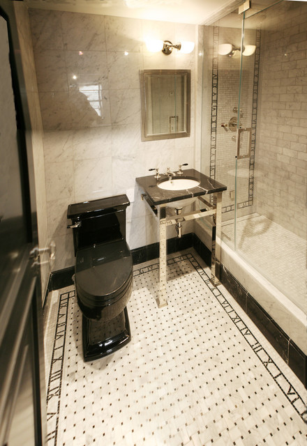 Fifth Ave Apartment contemporary-bathroom