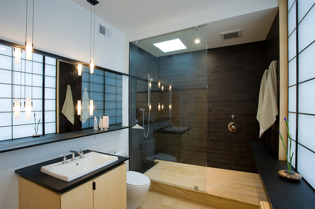 fifties split modern bathroom