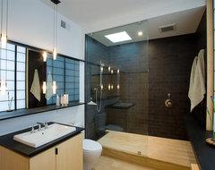fifties split modern-bathroom
