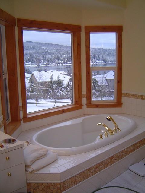 Finish Carpentry traditional-bathroom