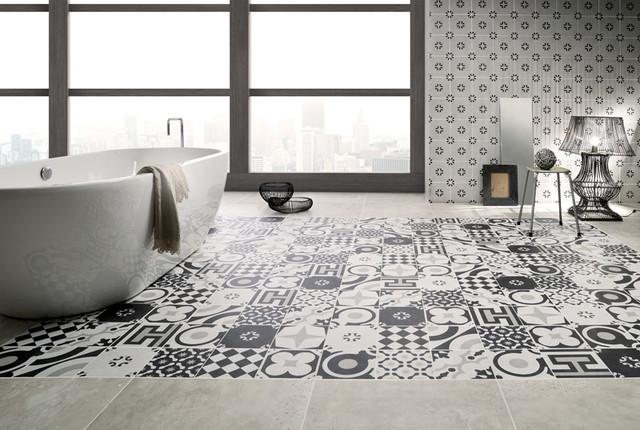 Fioranese Cementine Black White Bathroom Calgary By Tierra