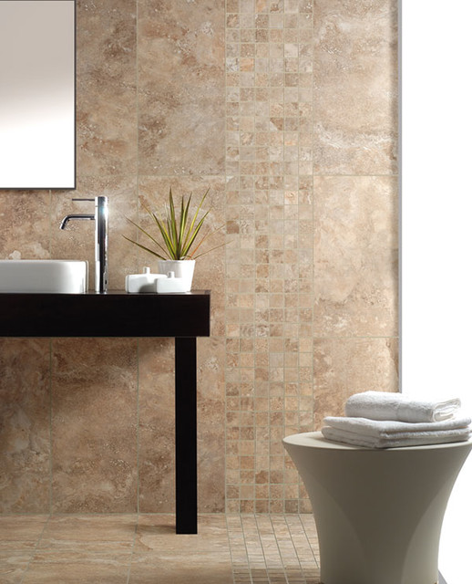 Fioranese Nu Travertine - Contemporary - Bathroom - Calgary - by