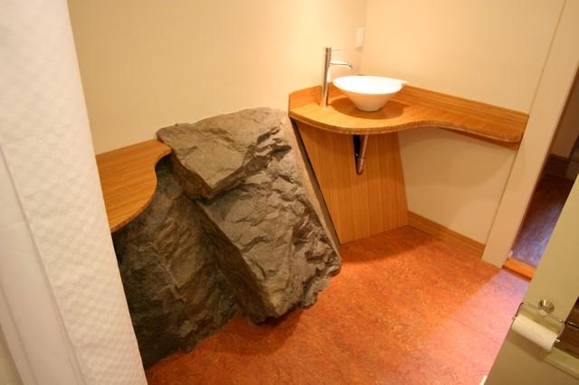 Fire Cave Bath eclectic-bathroom