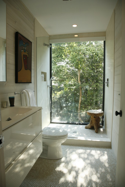 Would water from the shower effect the aluminium window for Bathroom ideas kerala