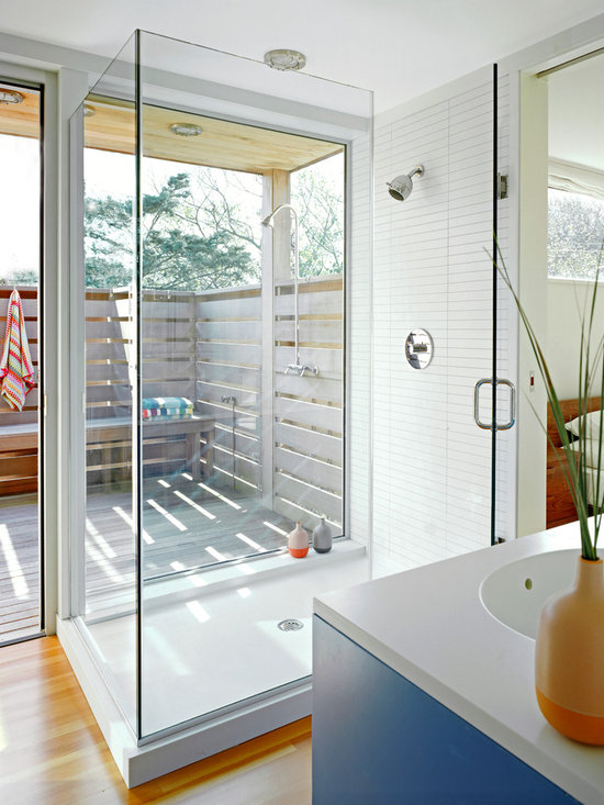 Indoor Outdoor Shower Home Design Ideas Pictures Remodel