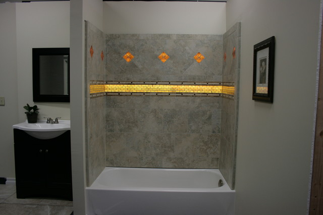 tile shower and tub combo. Firenze SHower Bath Combo mediterranean bathroom  Mediterranean Bathroom Los Angeles