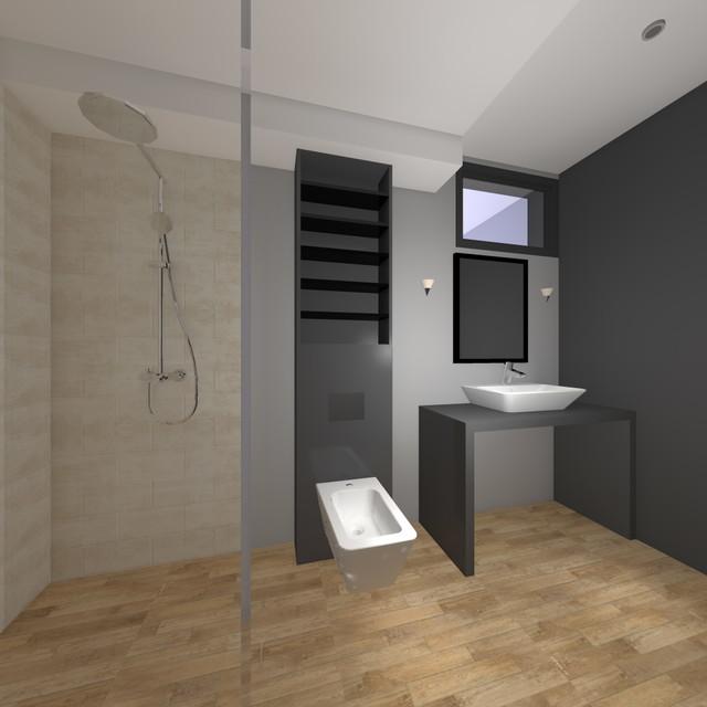 First floor apartment in Villa Cadmeia, Tivat Heights, Montenegro contemporary-bathroom