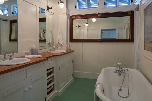 Fish Camp Beach Cottage Beach Style Bathroom By Historical