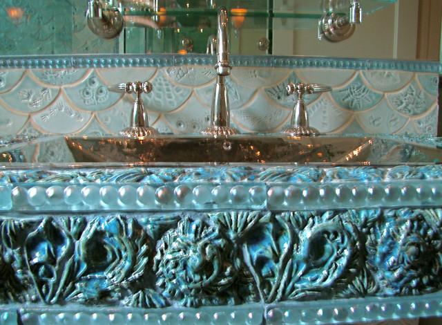 Fishscale Bathroom - Eclectic - Bathroom - dc metro - by Mel Sears Studio