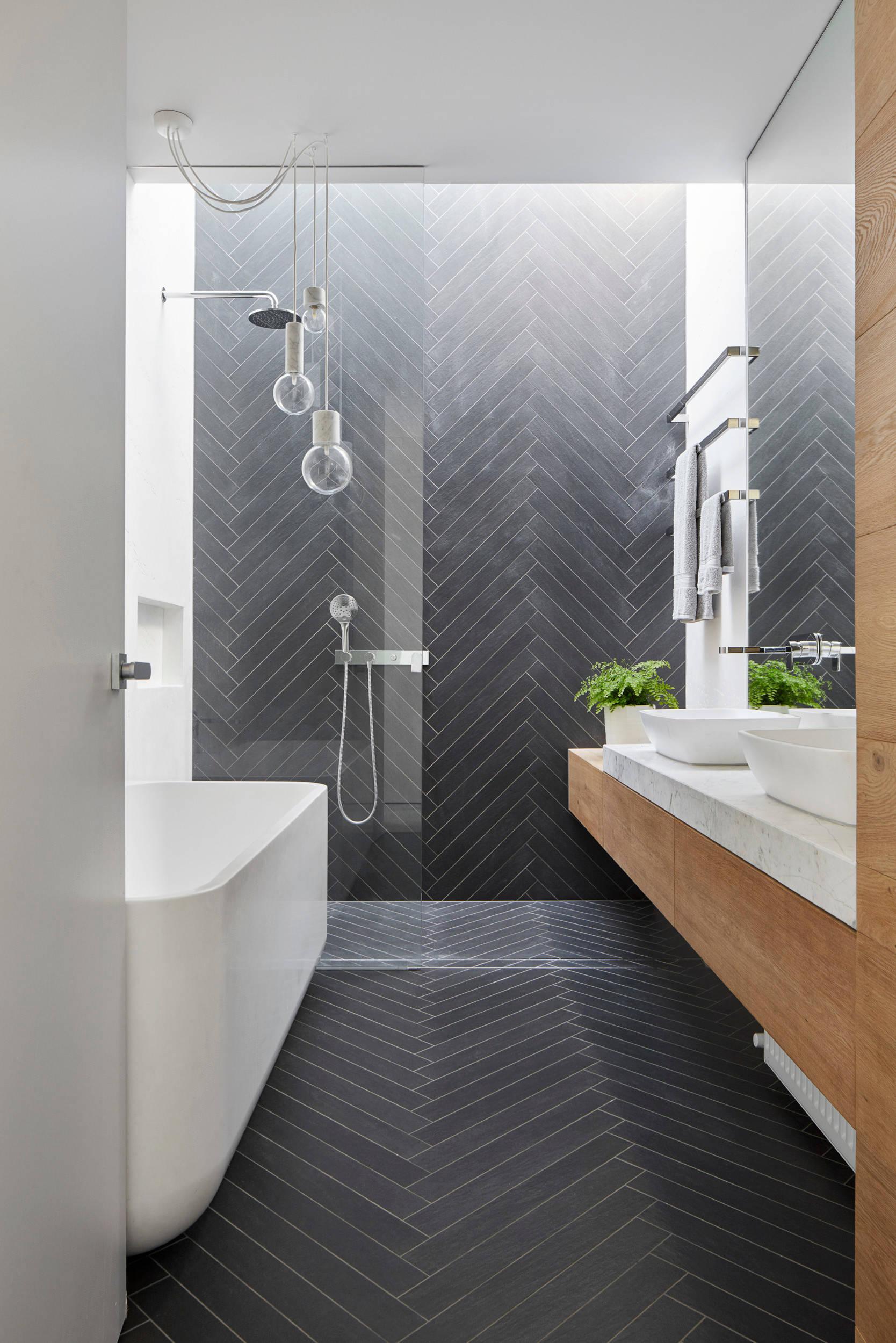 75 Beautiful Black Tile Bathroom Pictures Ideas February 2021 Houzz