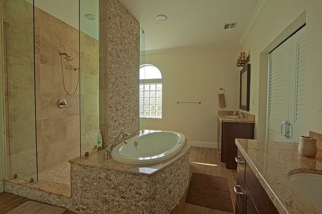 Flamingo Island Transitional Bathroom Miami By Rosie Hayes NCIDQ