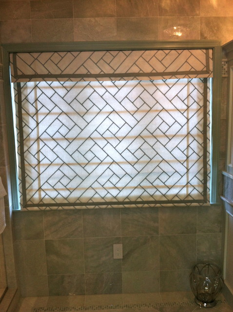 Flat Roman Shade with Valance traditional bathroom. Flat Roman Shade with Valance