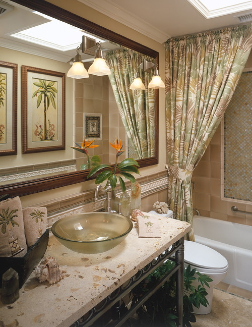Fleming Guest Bath tropical bathroom