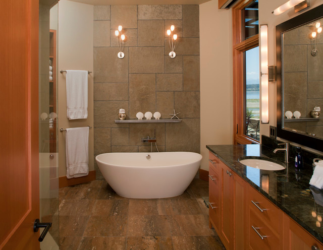 Fletcher Bay Residence Transitional Bathroom Seattle By Sean Parker Architects