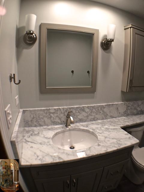 Fleur De Lis Modern Bathroom Chicago By Showcase Decorators Design Remodeling
