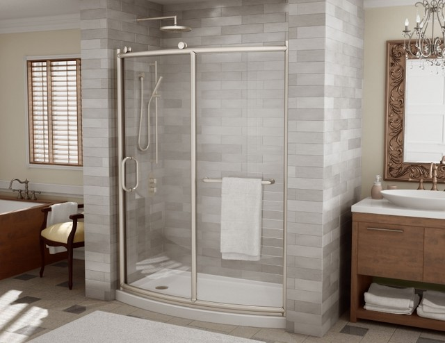 Fleurco Roma Shower Doors Modern Bathroom Miami By