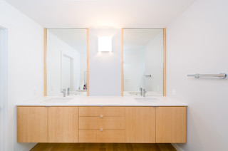 Floating Master Bath Vanity Contemporary Bathroom Orange County By Moss Yaw Design Studio