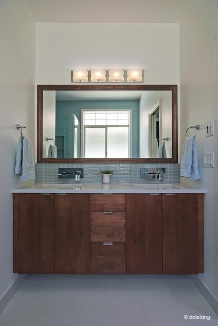 Floating Vanity Master Bathroom Contemporary Bathroom Seattle By Lu