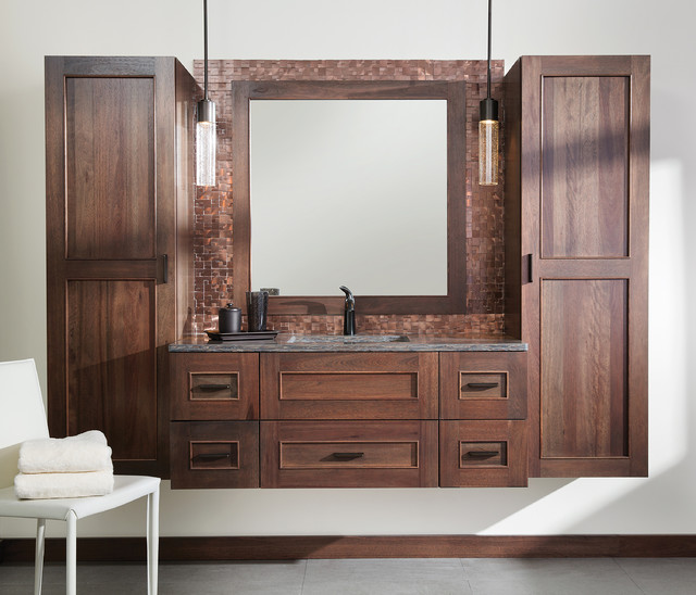 Floating Wall Hung Vanity And Linen