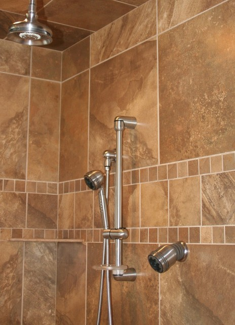 FLOOR360 Modern Shower Inspirations transitional-bathroom