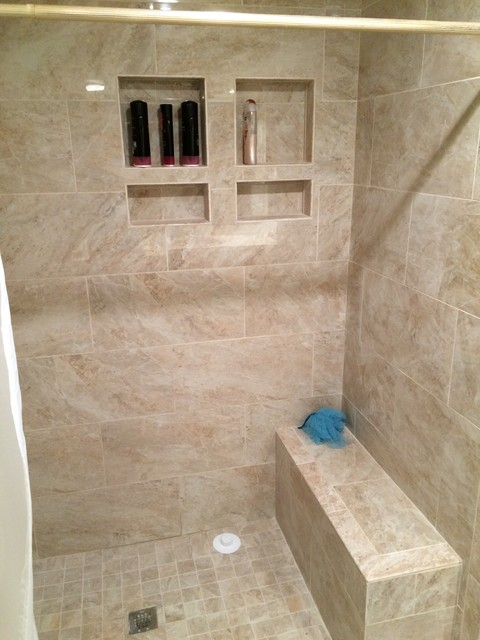Flooring showers backsplashes beach style bathroom for 8x4 bathroom ideas