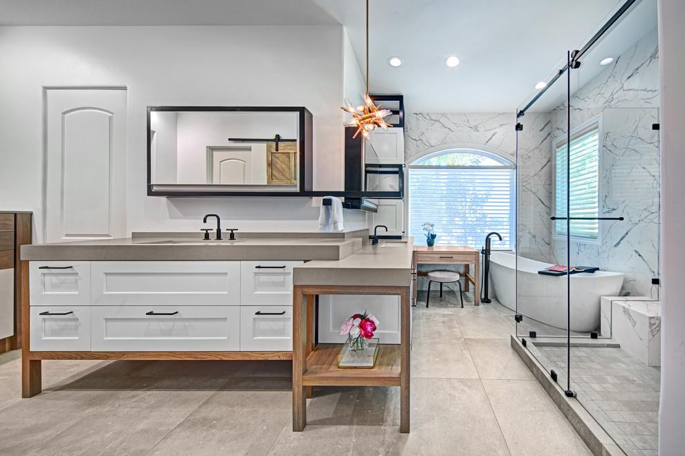 Flow Form Master Bath - Contemporary - Bathroom ...