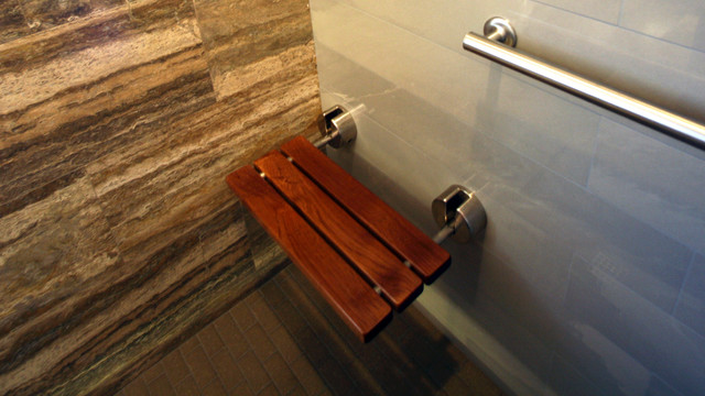 Fold Up Shower Bench Contemporary Bathroom Other