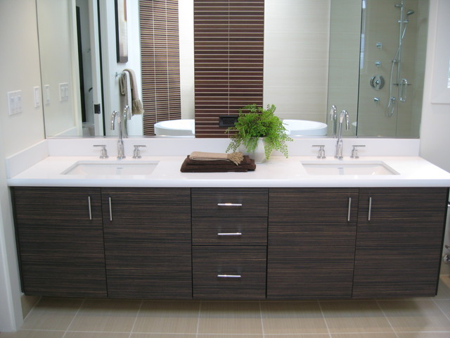Foloating Vanities Textured Laminate Contemporary Bathroom San Francisco By Cabinets