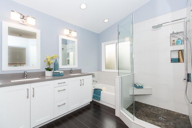 Foothill ranch master bath contemporary bathroom for Modern ranch bathroom
