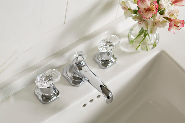 For Loft by Michael S Smith Basin Faucet Set, Crystal Handles ...