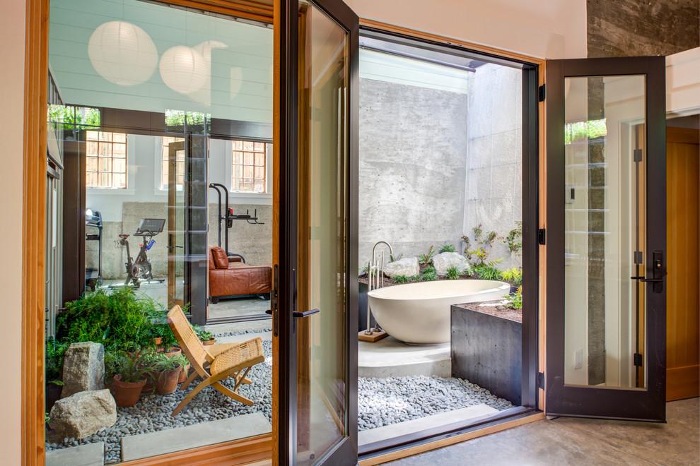 Example of an island style bathroom design in San Francisco