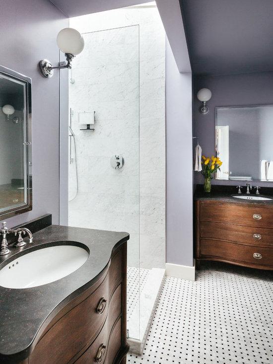 Blue gray color scheme bathroom design ideas pictures for Blue and purple bathroom ideas
