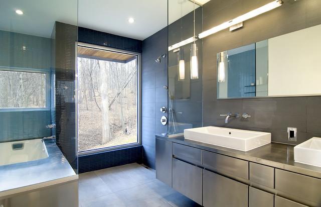 Forest House contemporary-bathroom