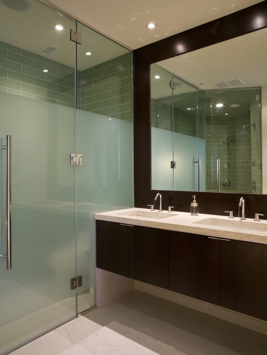 Frosted glass shower doors home design ideas pictures remodel and decor Bathroom remodel shower doors
