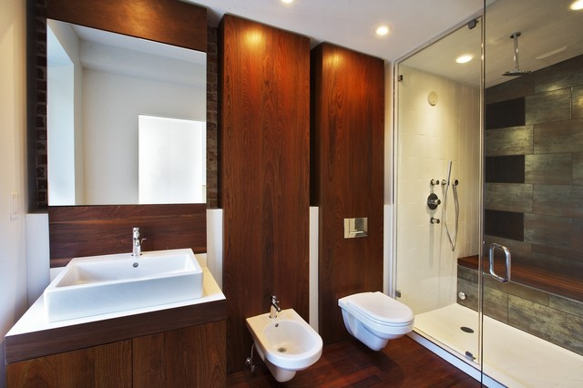 Fort Greene Brooklyn Townhouse Full Renovation Modern Bathroom New York By Perfect