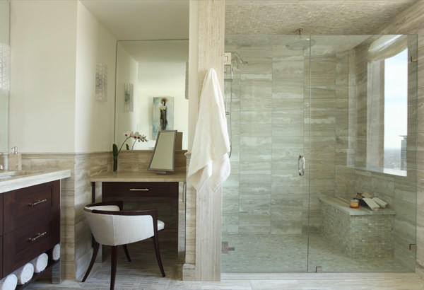 Four Seasons Residence Atlanta Transitional Bathroom