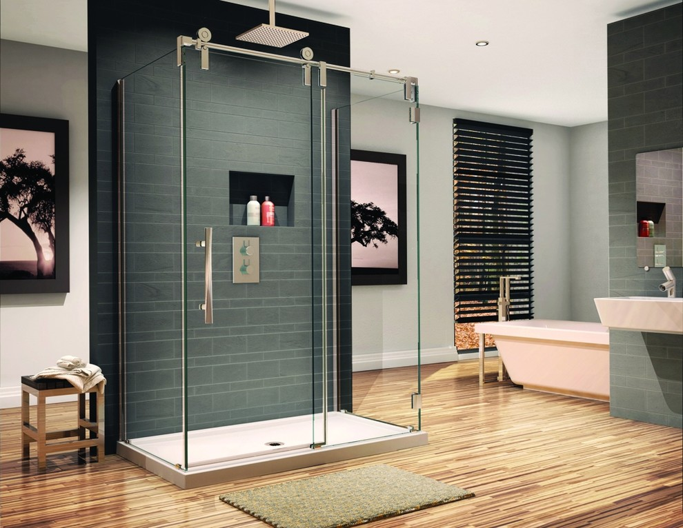 Frameless 3 8 Thick Shower Enclosure, Shower Stall With Sliding Glass Doors