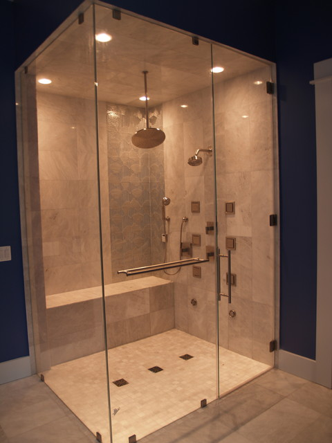 Frameless standard shower doors contemporary for Bathroom showrooms boston area