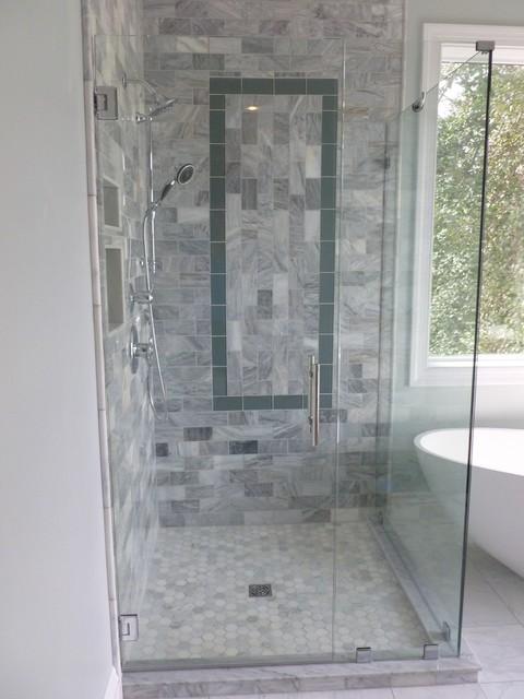 Frameless Corner Glass Shower Door Enclosure