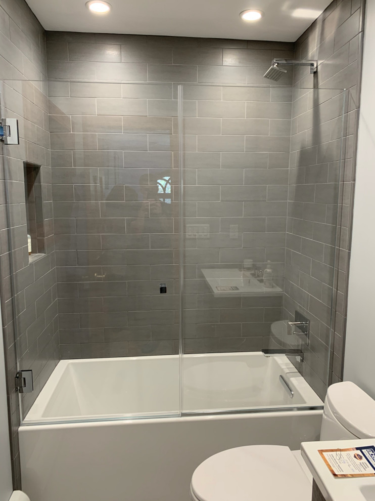 Frameless Door and Panel on Tub