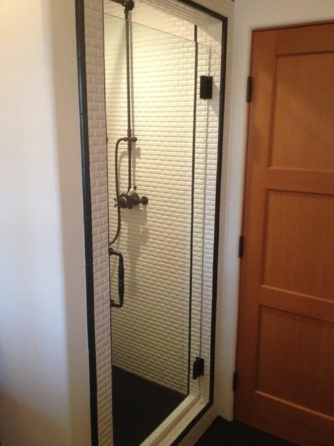 Frameless Glass Doors traditional-bathroom