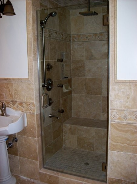 frameless shower door traditional bathroom los angeles by
