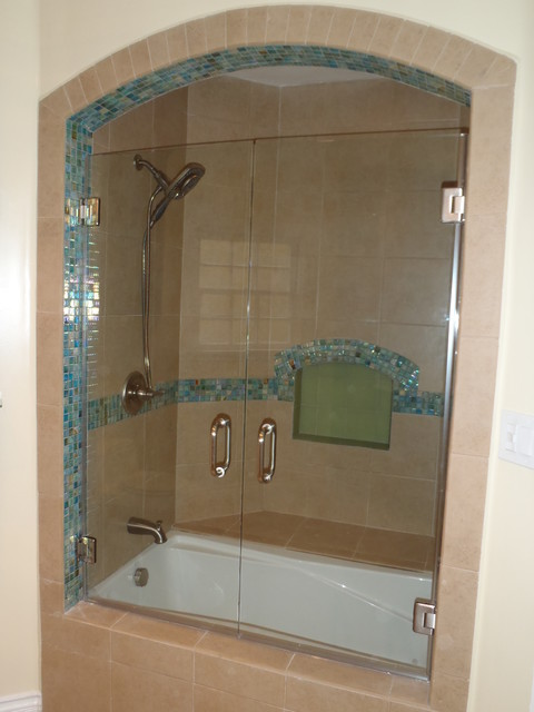 Frameless Shower Door Traditional Bathroom Los Angeles By Algami Glas