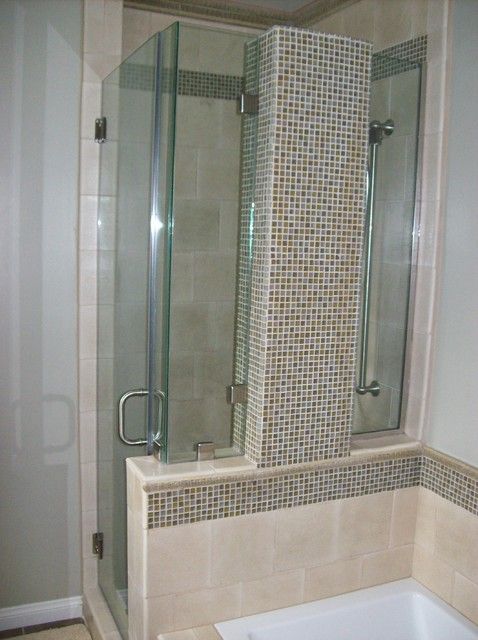 Frameless shower door traditional bathroom. Frameless shower door   Traditional   Bathroom   Los Angeles   by