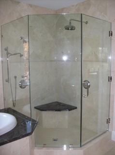 Frameless Shower Door Neo Angle Traditional Bathroom