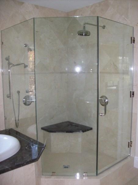 frameless shower door neoangle  traditional  bathroom