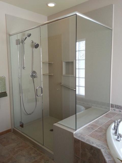 Frameless Shower Doors Contemporary Bathroom Denver