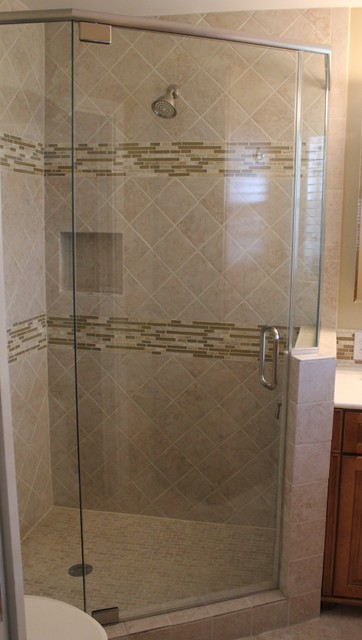 Frameless Shower Enclosure - Neo Angle - Traditional - Bathroom - Houston - by Shower Doors of ...